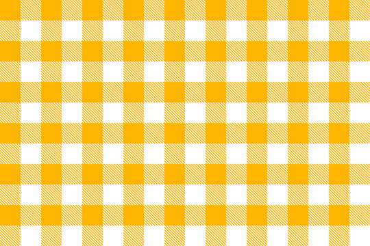 Yellow gingham tablecloth seamless pattern. Vector Illustration 10.