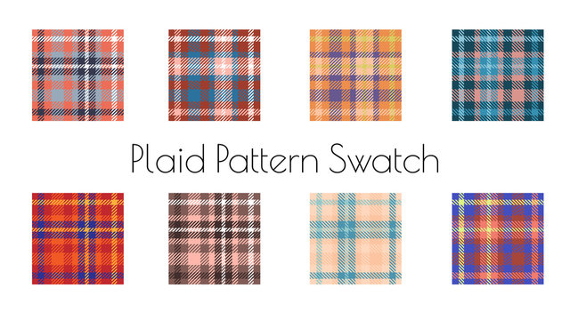 classic tartan plaid seamless pattern vector set