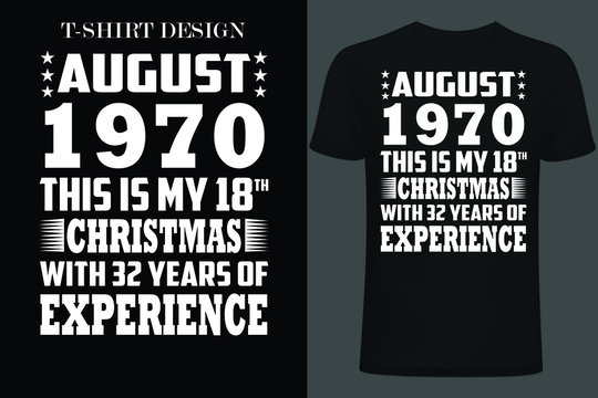 august 1970 this is my 18th Christmas with 32 years of experience