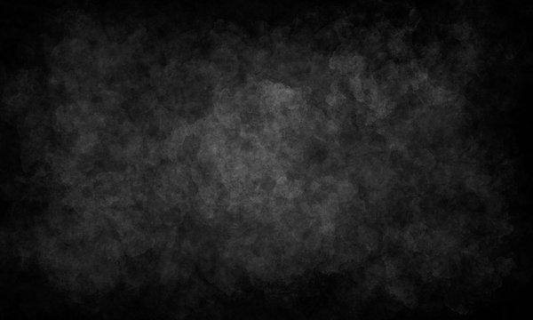 black deep monochrome simple grunge background, discreet design, basis for decor.