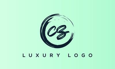 Fototapeta Alphabet letter icon logo CZ or ZC obraz