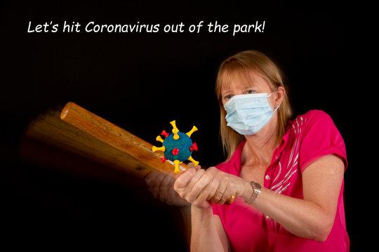 Let's hit Coronavirus out of the park! (plus text)