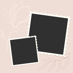 cute photo frame template