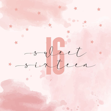 sweet sixteen birthday card