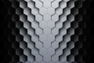 Abstract hexagon shapes background with shadows