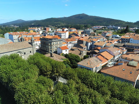 Padron, beautiful village of  A Coruña,Galicia,Spain. Aerial Drone Photo