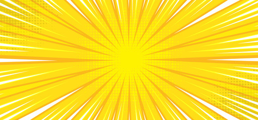 Photo sur Plexiglas Pop Art Pop art comic background with yellow