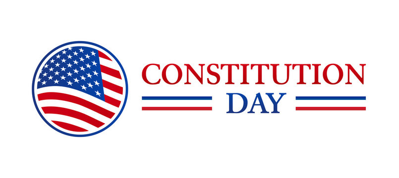 Constitution Day USA Flag Isolated Icon