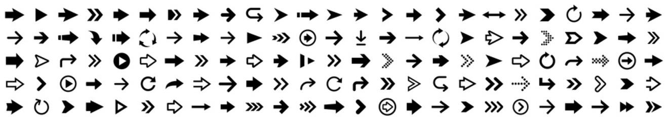 Arrow icon set. Arrow collection. Simple arrows big set. Vector