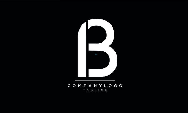 Alphabet letters Initials Monogram B3,3B,3 and B