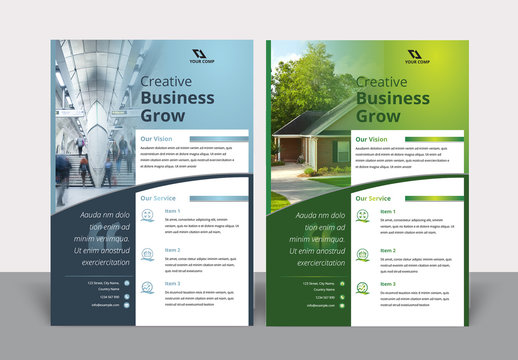 Corporate Flyer Layout with Gradient Color