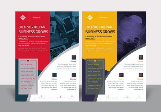 Corporate Flyer Layout with Geometric Elements