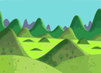 Photo sur Plexiglas Turquoise spring mountain landscape