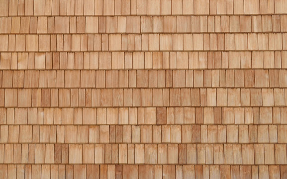 Abstract Wood Texture close up. Cedar Shingles For Background With White Space