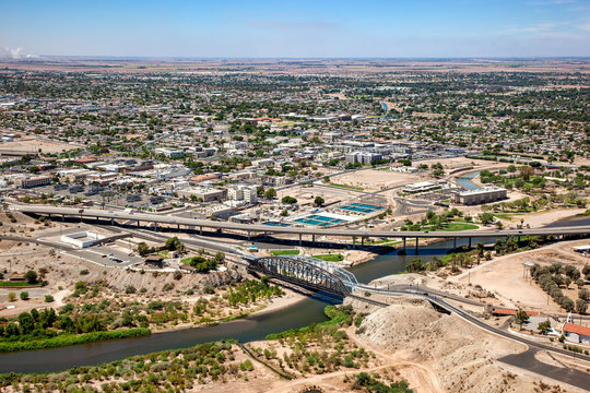 Aerial view of downtown Yuma, Arizona in 2009