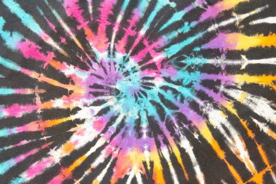 rainbow spiral tie dye colorful pattern.
