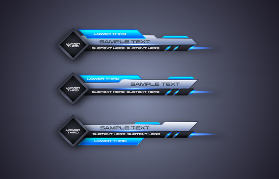 futuristic design vector interface Lower third banner Bars. Streaming Video. Breaking, Sport News.