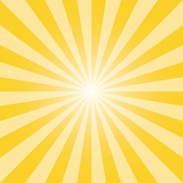 Yellow sunburst recto background template. Light yellow rectangular backdrop design. Tuscany yellow sunbeam background design for various purposes.