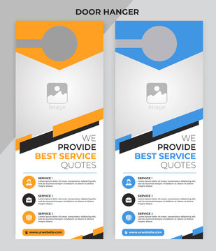 business Door Hanger, Vector illustration, modern Door hanger, do not disturb and make up room sign Premium Vector, Door hanger design template Corporate Door Hanger Layout
