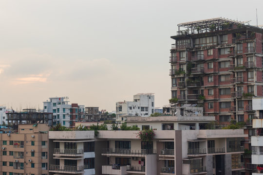 Dhaka Cityscape with Red color building