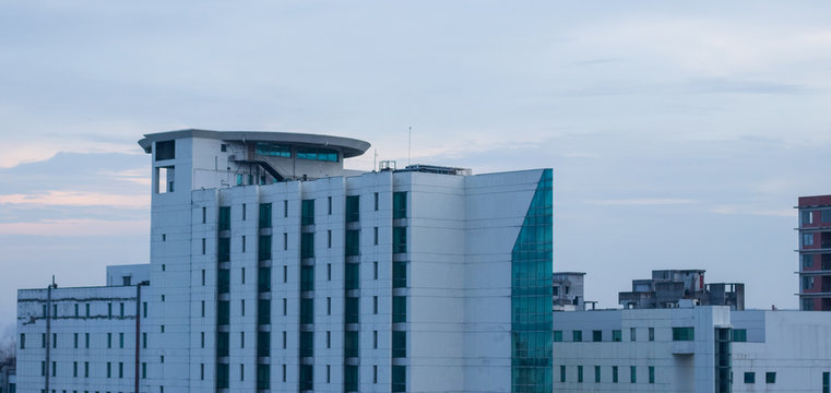 Hospital building view in dhaka city