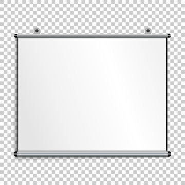 Blank presentation screen