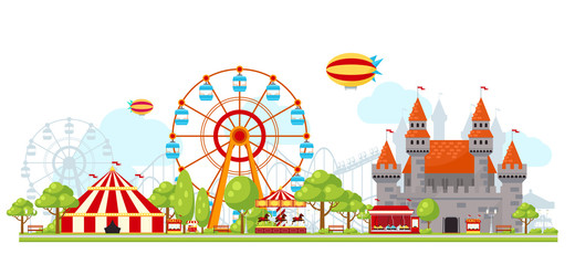 Wall Murals Amusement Park Amusement Park Composition