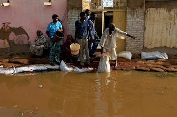 Floodwaters in Sudan reach record levels, in Khartoum