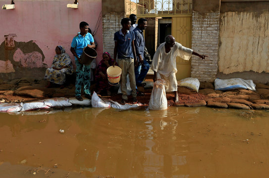 Floodwaters in Sudan reach record levels, in Khartoum