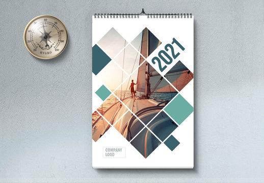 2021 Portrait Wall Calendar Layout