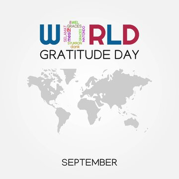 World Gratitude Day Vector Illustration