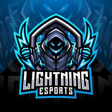Lightning esport mascot logo design