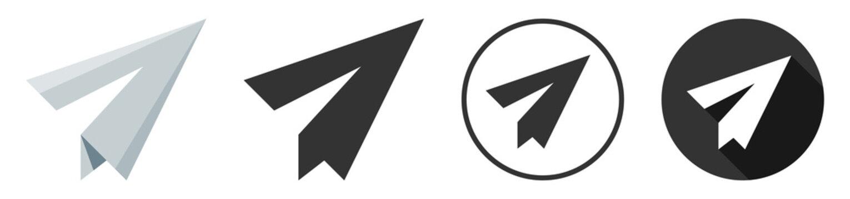 Paper plane icon logo flat design collection