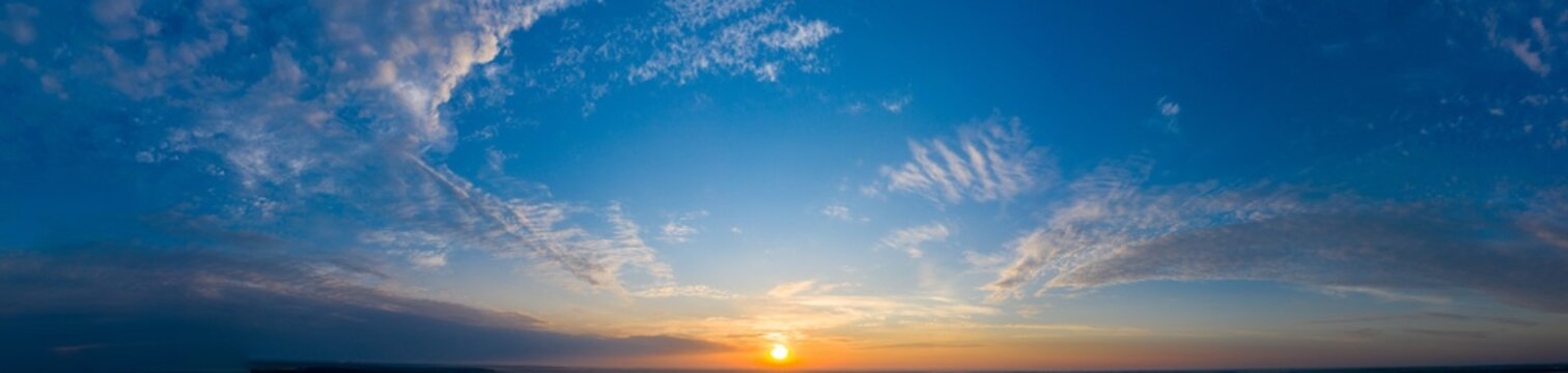 Clear sky without clouds at sunset. Background.