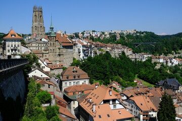 Fribourg city view, Fribourg, Switzerland