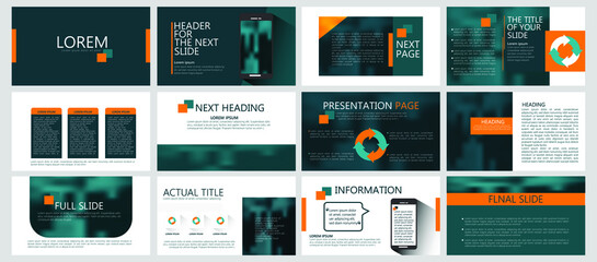 Modern powerpoint presentation templates set for business. Use for modern keynote presentation background, brochure design, website slider, landing page, annual report, company profile, portfolio