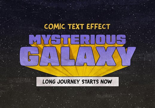 Sci-Fi 3D Comic Text Effect Mockup