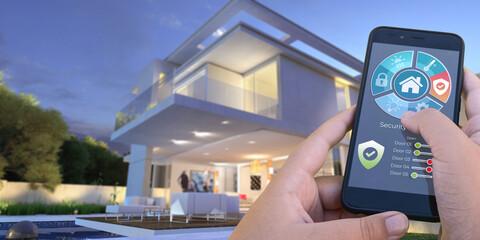 Luxurious modern smart house