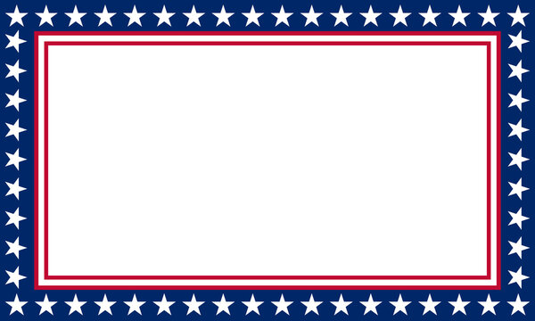 blue and red frame with a usa flag pattern