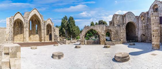 Wall Mural - Church of Panagia tou Bourgou in Rhodes Island, Greece
