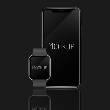 realistic apple mockups, apple watch, iphone, modern mobile mockup, apple laptop, mac mockup, apple mock up