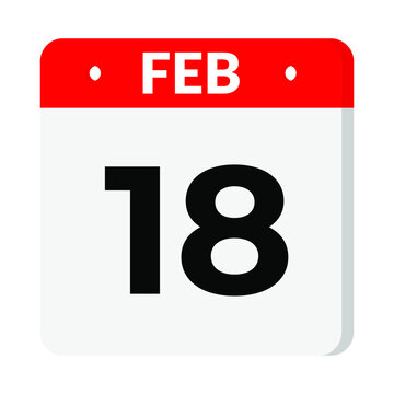 18 February calendar icon