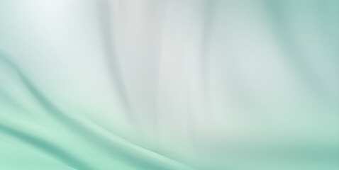Green cloth background abstract with soft waves