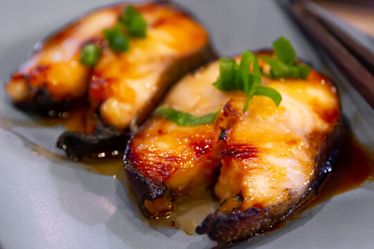 Oven Broiled Miso Butterfish Black Cod Steak