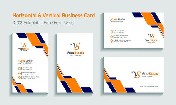 Creative business card template set