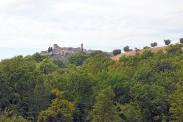 Tuscany landscape, the countryside of Maremma, Montemerano