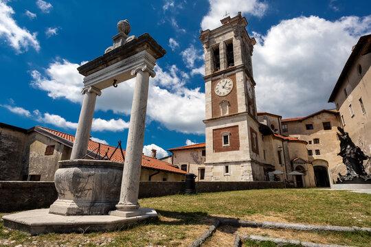 Sacro Monte (VA), Italy - A view of the pilgrimage village of Santa Maria del Monte on Sacro Monte di Varese, UNESCO World Cultural Heritage Site, Santa Maria del Monte, Varese, Lombardy
