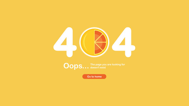 The page was not found with a 404 error. Food