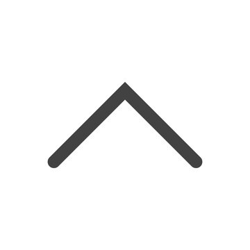vector icon of a wedge arrow pointing up on a white background