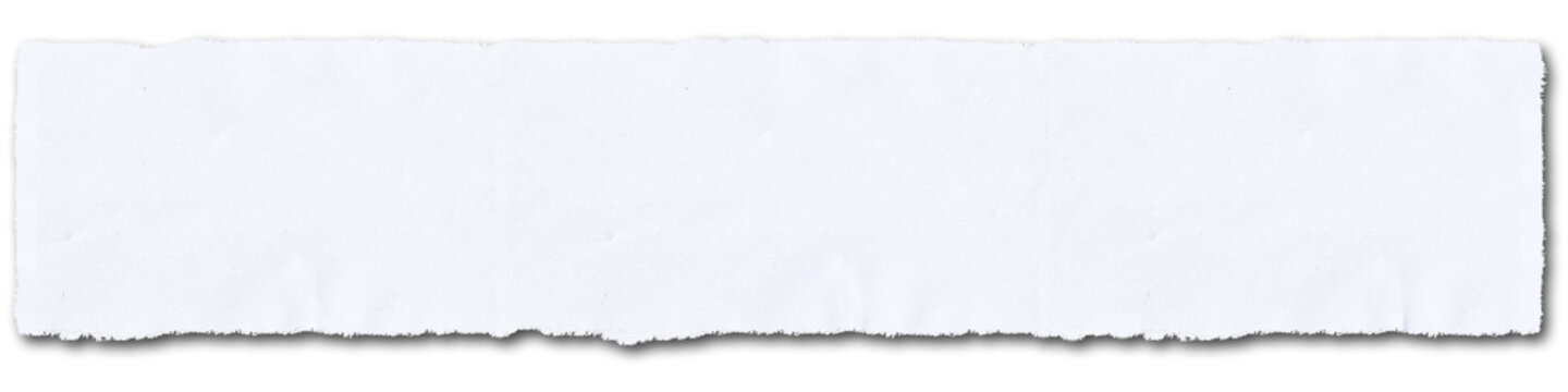 realistic horizontal torn paper edges, isolated banner - torn sheet of paper. - newspaper - empty message background. - gz910 GrafikZeichnung - 4to1 xxl g9902